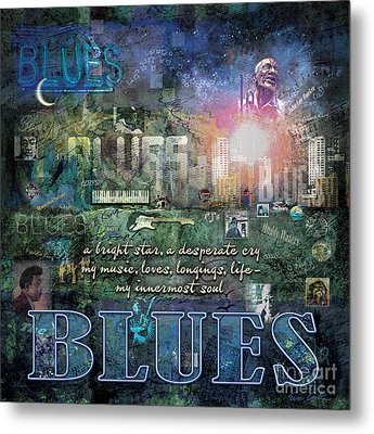 The Blues Metal Print by Evie Cook