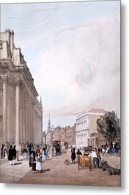 The Board Of Trade, Whitehall Metal Print by Thomas Shotter Boys