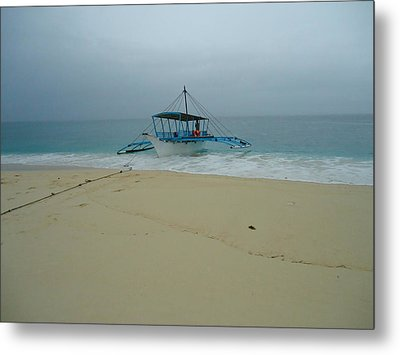 The Boat Metal Print by Fladelita Messerli-