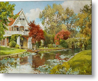 The Boathouse Metal Print by Alfred Parsons