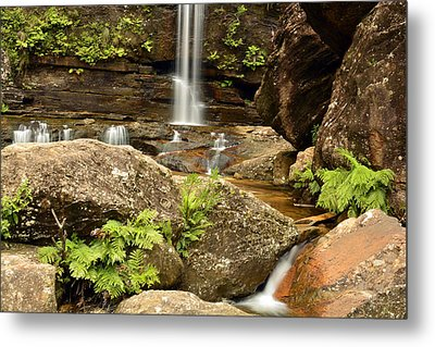 The Bottom Falls Metal Print by Terry Everson