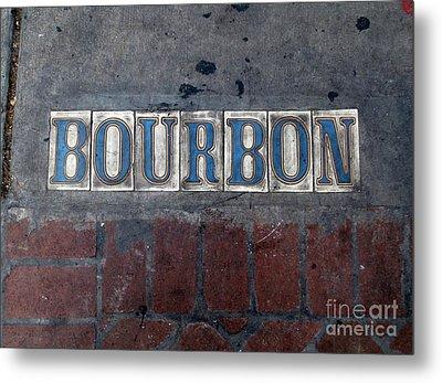 The Bourbon Street Sign Metal Print by Joseph Baril