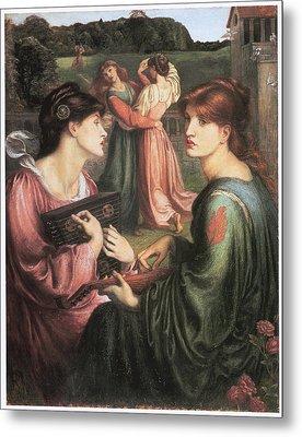 The Bower Meadow Metal Print by Dante Gabriel Rossetti