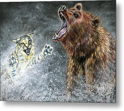 The Brawl Metal Print by Teshia Art