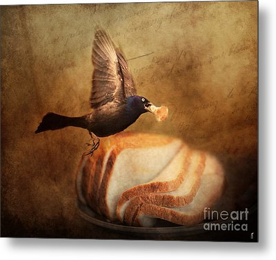 The Bread Thief Metal Print by Jai Johnson