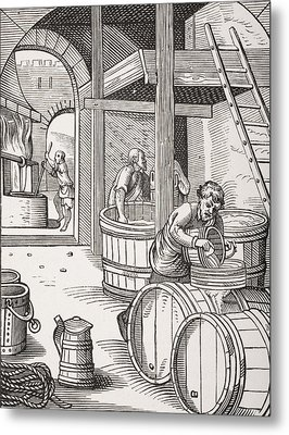 The Brewer Metal Print by French School