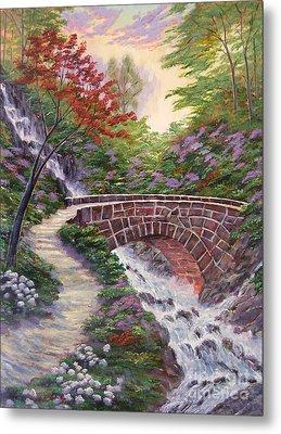 The Bridge Across Metal Print by David Lloyd Glover