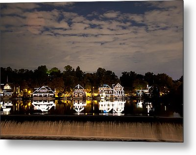 The Bright Lights Of Boathouse Row Metal Print by Bill Cannon