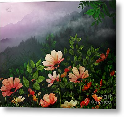 The Brighter Side Of The Dark Mountains Metal Print by Bedros Awak
