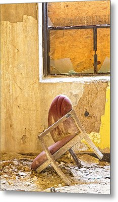 The Broken Chair Metal Print by Carolyn Fox