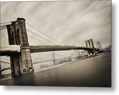 The Brooklyn Bridge Metal Print by Eli Katz