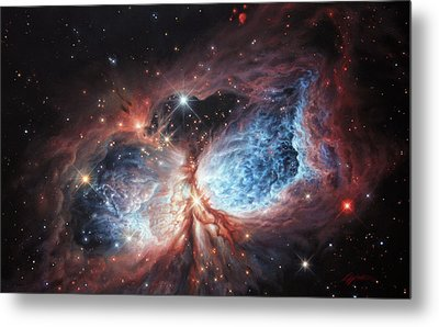 The Brush Strokes Of Star Birth Metal Print by Lucy West