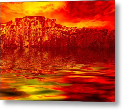 The Burning Zone Metal Print by Wendy J St Christopher