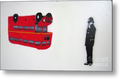 The Bus Metal Print by Bela Manson