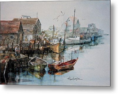 The B'y That Catches The Fish Metal Print by Hanne Lore Koehler