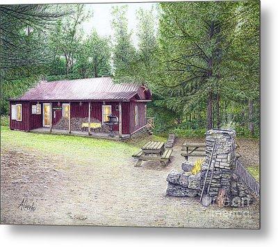 The Cabin In The Woods Metal Print by Albert Puskaric