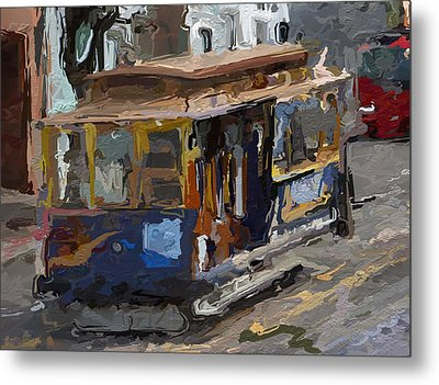 The Cable Car Metal Print by Steve K