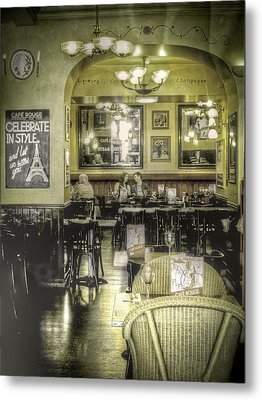 The Cafe Metal Print by Janet Meehan