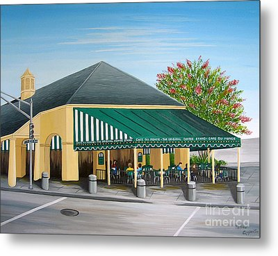 The Cafe Metal Print by Valerie Carpenter