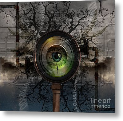 The Camera Eye Metal Print by Keith Kapple