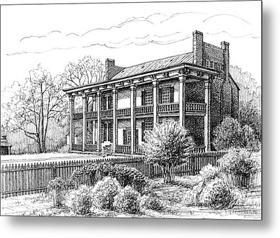 The Carnton Plantation In Franklin Tennessee Metal Print by Janet King