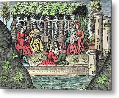 The Castle Of Alamond And Its Enchantments Metal Print by French School
