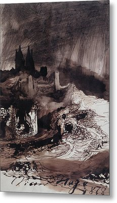 The Castle Metal Print by Victor Hugo
