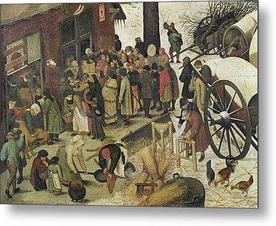 The Census At Bethlehem Metal Print by Bruegel