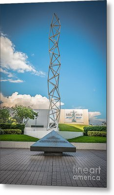 The Challenger Memorial - Bayfront Park - Miami - Hdr Style Metal Print by Ian Monk