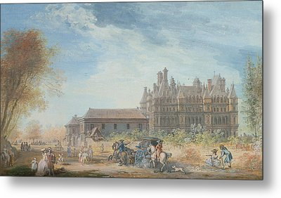 The Chateau De Madrid Metal Print by Louis-Nicolas de Lespinasse