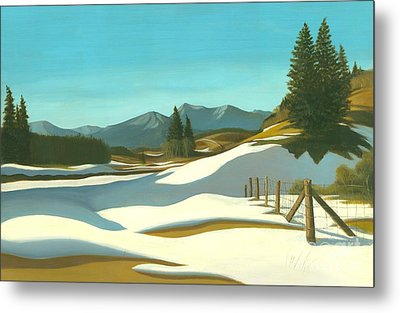 The Chinook Wind Blows Metal Print by Michael Swanson