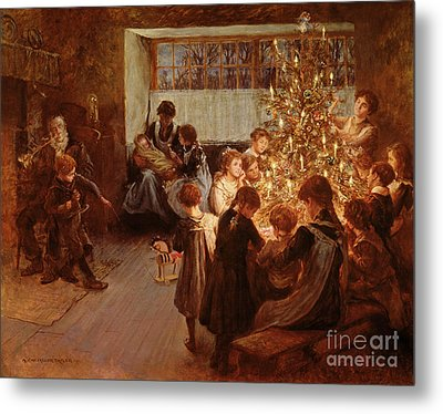 The Christmas Tree Metal Print by Albert Chevallier Tayler