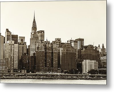 The Chrysler Building And New York City Skyline Metal Print by Vivienne Gucwa