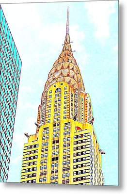 The Chrysler Building Metal Print by Ed Weidman