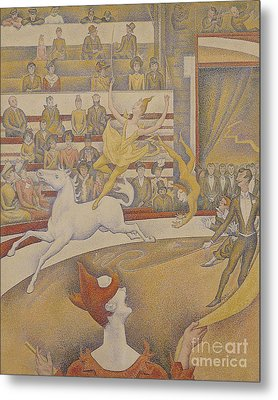 The Circus Metal Print by Georges Pierre Seurat