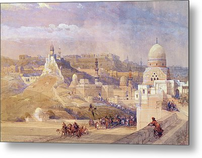 The Citadel Of Cairo, Residence Of Mehmet Ali, 1842-49 Colour Litho Metal Print by David Roberts