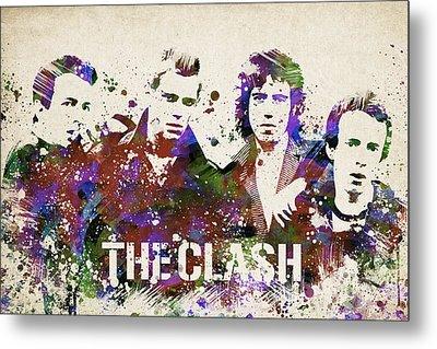 The Clash Portrait Metal Print by Aged Pixel