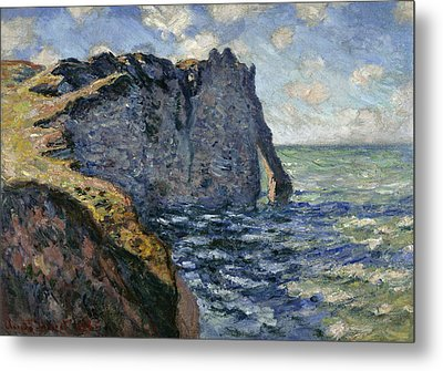 The Cliff Of Aval, Etretat, 1885 Metal Print by Claude Monet