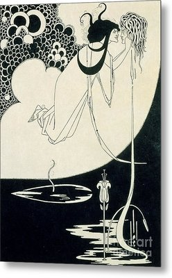The Climax Metal Print by Aubrey Beardsley