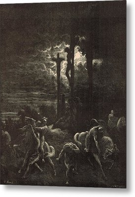 The Close Of The Crucifixion Metal Print by Antique Engravings