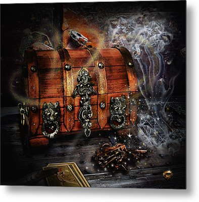 The Coffer Of Spells Metal Print by Alessandro Della Pietra