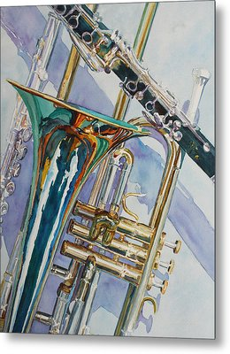 The Color Of Music Metal Print by Jenny Armitage