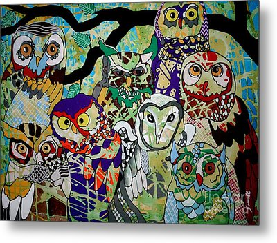 The Color Of Owls Metal Print by Amy Sorrell