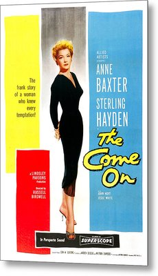 The Come On, Us Poster, Anne Baxter Metal Print by Everett