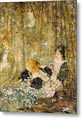The Coming Of Spring, 1899 Metal Print by Edward Atkinson Hornel