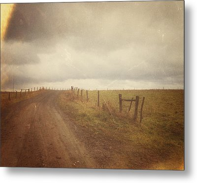 The Coming Storm - Warm Metal Print by Joy StClaire