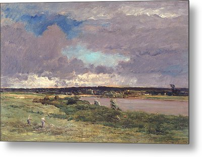 The Coming Storm Metal Print by Charles Francois Daubigny