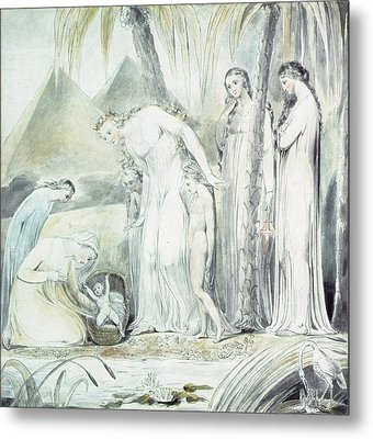 The Compassion Of Pharaohs Daughter Or The Finding Of Moses Metal Print by William Blake