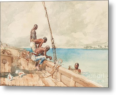 The Conch Divers Metal Print by Winslow Homer