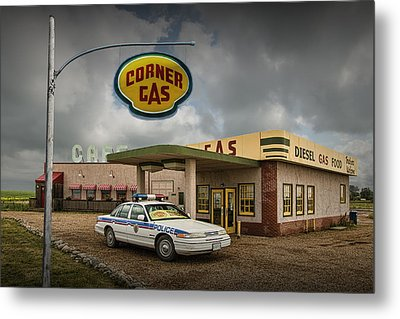 The Corner Gas Station From The Canadian Tv Sitcom Metal Print by Randall Nyhof